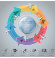 Business Journey With Global Arrow Airline vector image