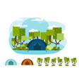 camping concept with tent and nature vector image
