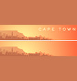 cape town beautiful skyline scenery banner vector image vector image
