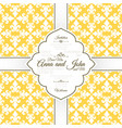 card template with french yellow pattern vector image vector image