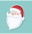 cartoon background of santa claus face vector image vector image