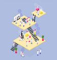 chemistry stages isometric composition vector image vector image