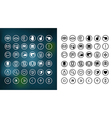 communication icons set 1 notext vector image