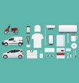 corporate identity template set branding design vector image vector image