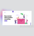 corporate working and communication website vector image vector image