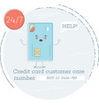 credit card customer care concept vector image vector image