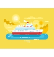 Cruise ship design flat vector image