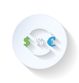 Currency exchange flat icons vector image vector image
