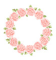 Decorative element with pink roses