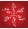 decorative snowflake vector image vector image