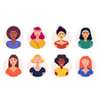 different women avatar icons set vector image vector image