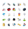 electric energy icons set vector image