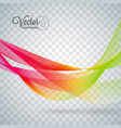 elegant flowing color wave design on transparent vector image vector image