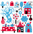 fairytale elements vector image