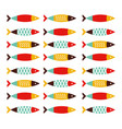 fish seamless pattern flay style portugal vector image vector image