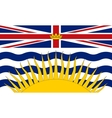 Flag of British Columbia correct size and colors vector image vector image