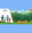 flat forest travel concept vector image