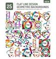 Flat line design background vector image vector image