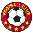 football club symbol vector image