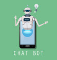 free chat bot robot virtual assistance on vector image vector image