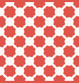 geometric seamless pattern with red curved shapes vector image vector image