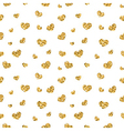 Golden hearts seamless pattern 1 white vector image vector image