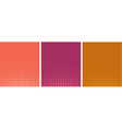 graphical pink orange gradient in halftone style vector image vector image
