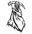 grim reaper with black outlines vector image vector image