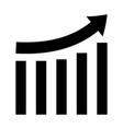 growing graph black color icon vector image vector image