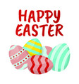 happy easter icon easter label on white vector image