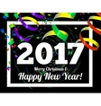 Happy New Year 2017 on a background of confetti vector image vector image