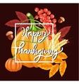 Happy Thanksgiving celebration background Autumn vector image