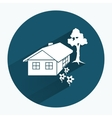 House icon Building household comfort real estate vector image vector image