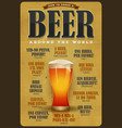 how to order a beer around the world poster vector image vector image