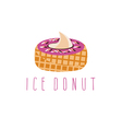 ice cream and donut concept design template vector image