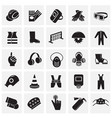 industrial safety signs set on squares background vector image