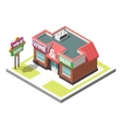 isometric icon infographic 3d building vector image vector image