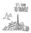 Its time to travel plane travel landmark backgroun