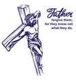 jesus christ son god crucified on a vector image vector image