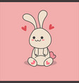 kawaii lovely rabbit vector image