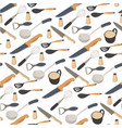 kitchen tools utensils and cups for beverages vector image vector image