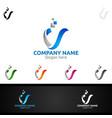 Letter v for digital logo marketing financial