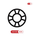 lifesaver icon vector image vector image
