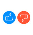 like and dislike icons set vector image vector image