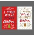 Merry Christmas hand Lettering card vector image