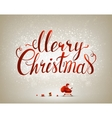 merry christmas inscription on festive vector image vector image