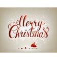 Merry Christmas inscription on the festive vector image vector image