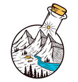 mountain labglassware vector image