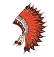 native american indian headdress graphic vector image vector image
