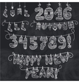 New year garlandKnitted numberssocksletters vector image vector image